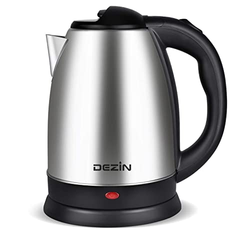 Dezin Electric Kettle Water Heater, 2L Stainless Steel Cordless Tea Kettle, Fast Boil, Auto Shut Off and Boil Dry Protection Tech – Base on SIDE ...
