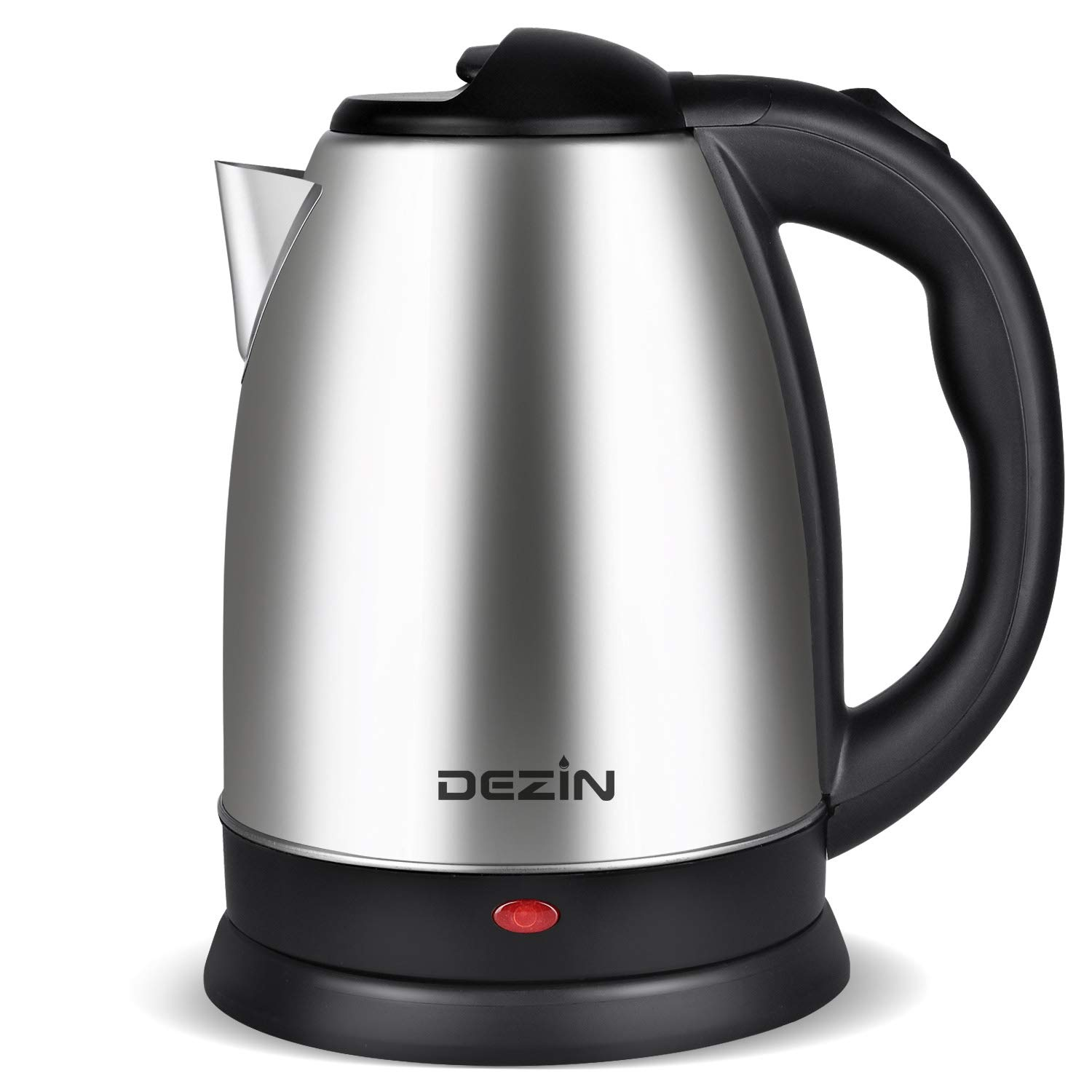 Dezin Electric Kettle Water Heater, 2L Stainless Steel Cordless Tea Kettle, Fast Boil, Auto Shut Off and Boil Dry Protection Tech – Base on SIDE Concept (Simple, Inexpensive, Dependable and Effective) by DEZIN (Image #1)