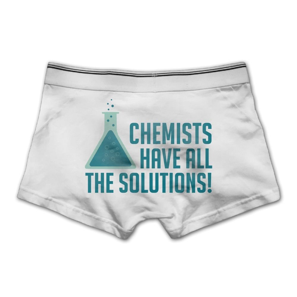 Ghhpws Mens Chemists Have All The Solutions Underwear Cotton Boxer Briefs Stretch Low Rise Trunks White