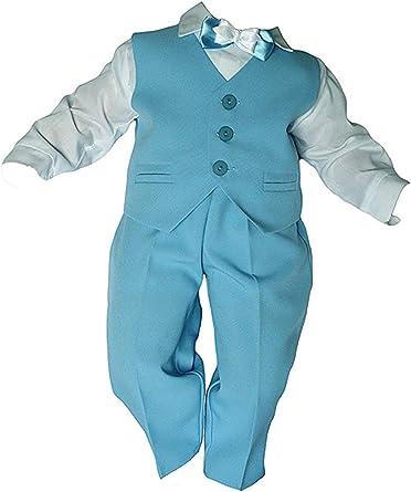 Unbekannt Taufanzug Baby Junge Kinder Kind Taufe Anzug Hochzeit Anzüge Festanzug 4tlg Blau Weiß Größe