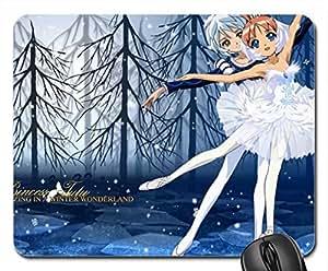 Princess Tutu Winter Wornderland Mouse Pad, Mousepad (10.2 x 8.3 x 0.12 inches)