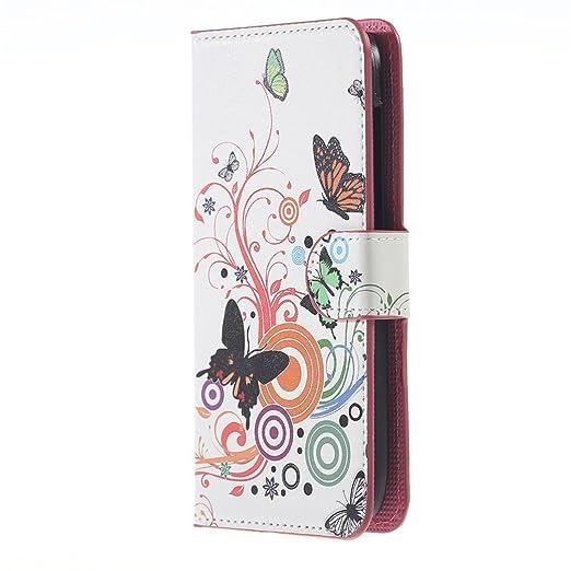 29 opinioni per Huawei Ascend Y600 Custodia,PU Cuoio Flip Case Caso Con carte di credito slot