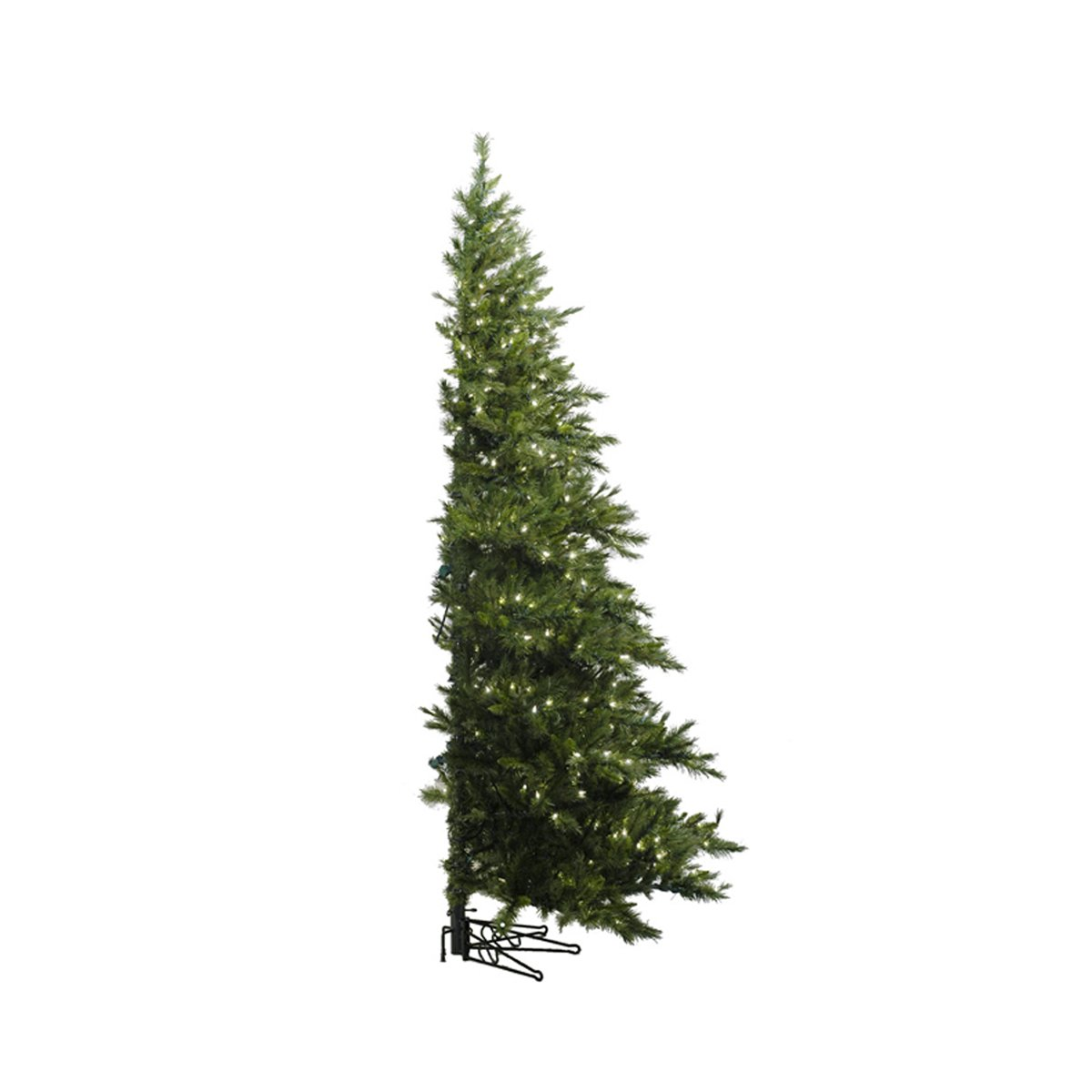 Vickerman Pre-Lit Westbrook Pine Artificial Half Wall Christmas Tree with Clear Lights, 6.5'