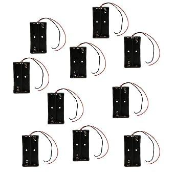 10 Piezas 18650 Soporte de Batería Ranuras Dobles 7.4V Caja de ...