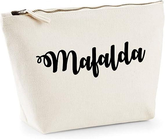 Mafalda nombre personalizado lona de algodón bolsa de accesorios ...
