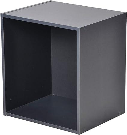 Gris Panneaux de Particules HOMEA Cube de Rangement 1 Niche 34,4x29,5x34,4 cm