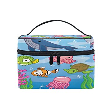 afa6ecf87280 Amazon.com : Toprint Large Makeup Bag Organizer Cute Sea Animal ...