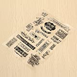 Bazaar Birthday Transparent Sheet Scrapbooking Craft Card Clear Rubber Stamp Cling Set