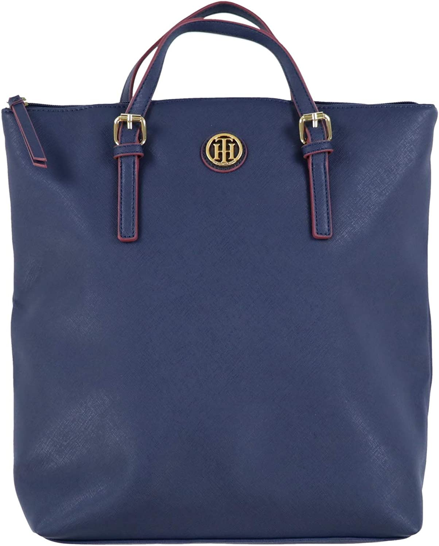 Navy Blue Tommy Hilfiger Womens Crossgrain Backpack