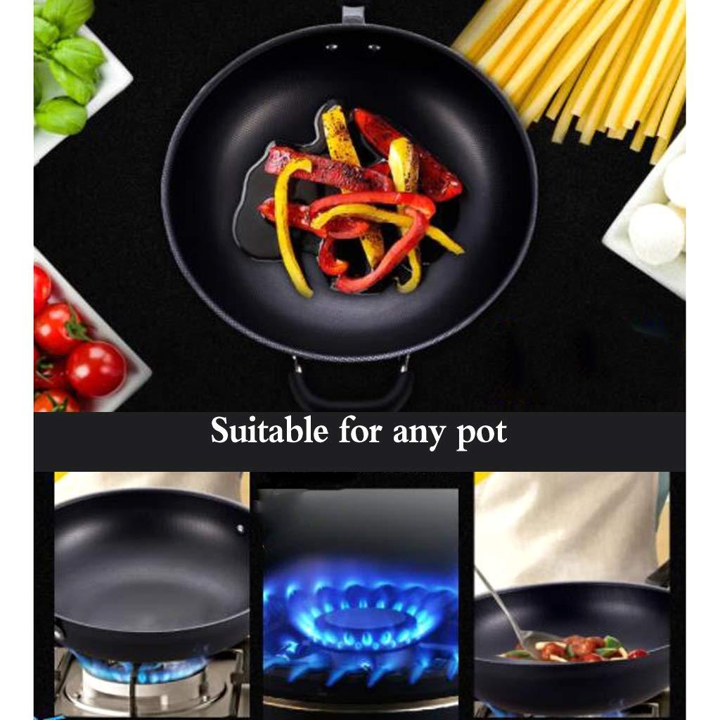 ... de hierro multifunción doméstica sartén de cocina wok pequeño cocina de gas para sartén de hierro Sartenes y ollas (Size : 32x32x9cm): Amazon.es: Hogar