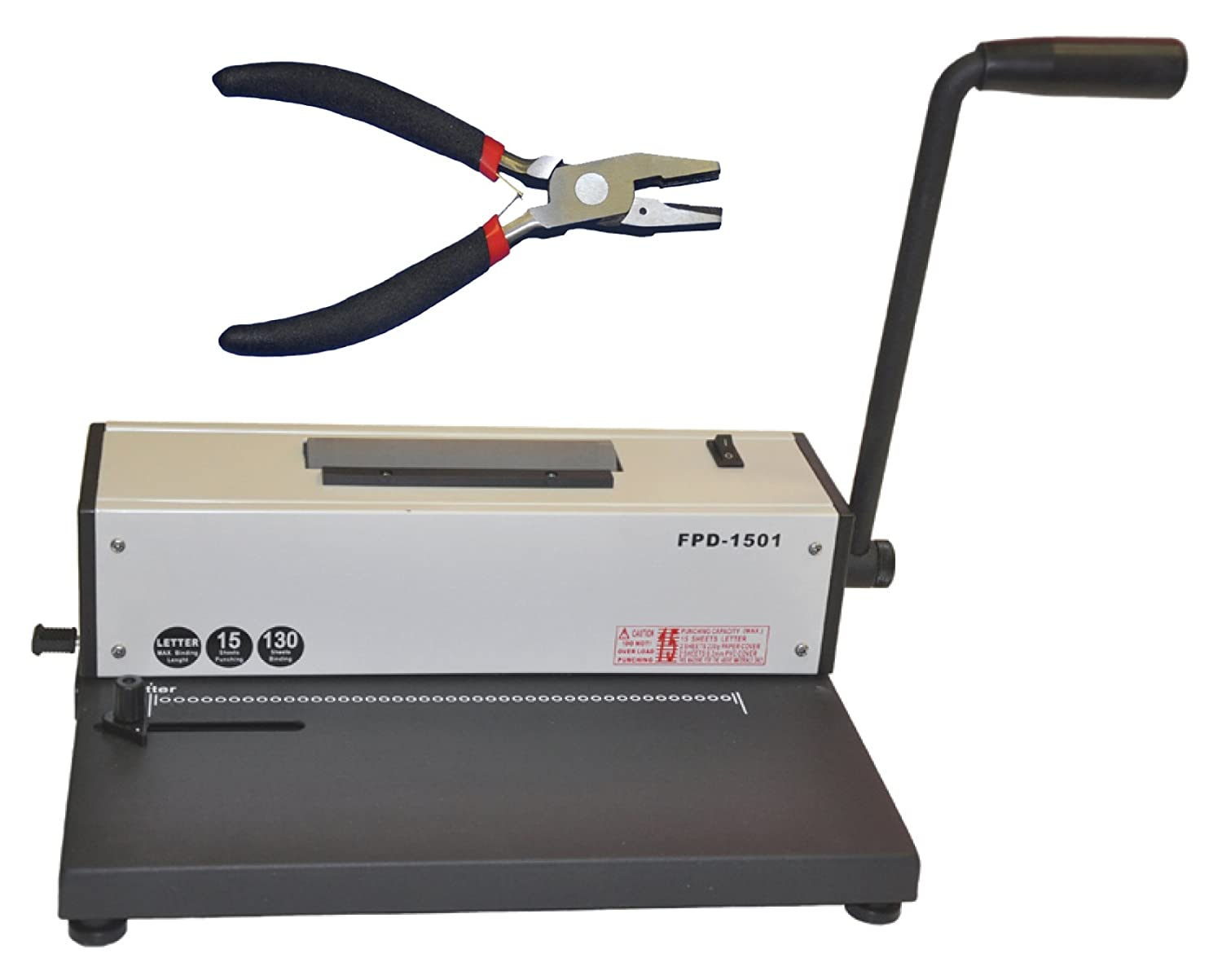 Coil Spiral Binding Machine, Electric Insert Metal Spiral Binder, Pliers EZtransfer