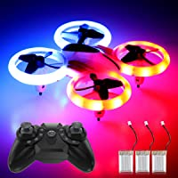 Mini Drones for Kids Beginners 3 Batteries RC Helicopter Quadcopter Boys and Girls Small RC Drones Mini Quadcopter with LED Lights Auto Hovering 3D Flip Headless Mode