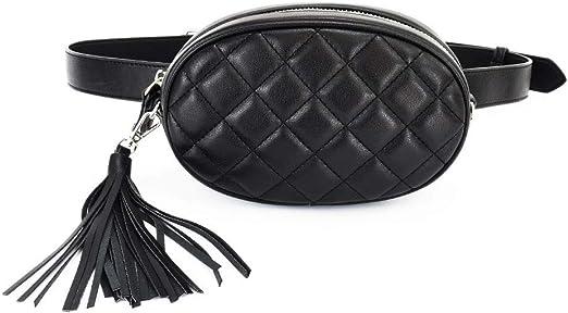qingqingR Fashion Women Tassel Waist Fanny Pack Belt Phone Pouch ...