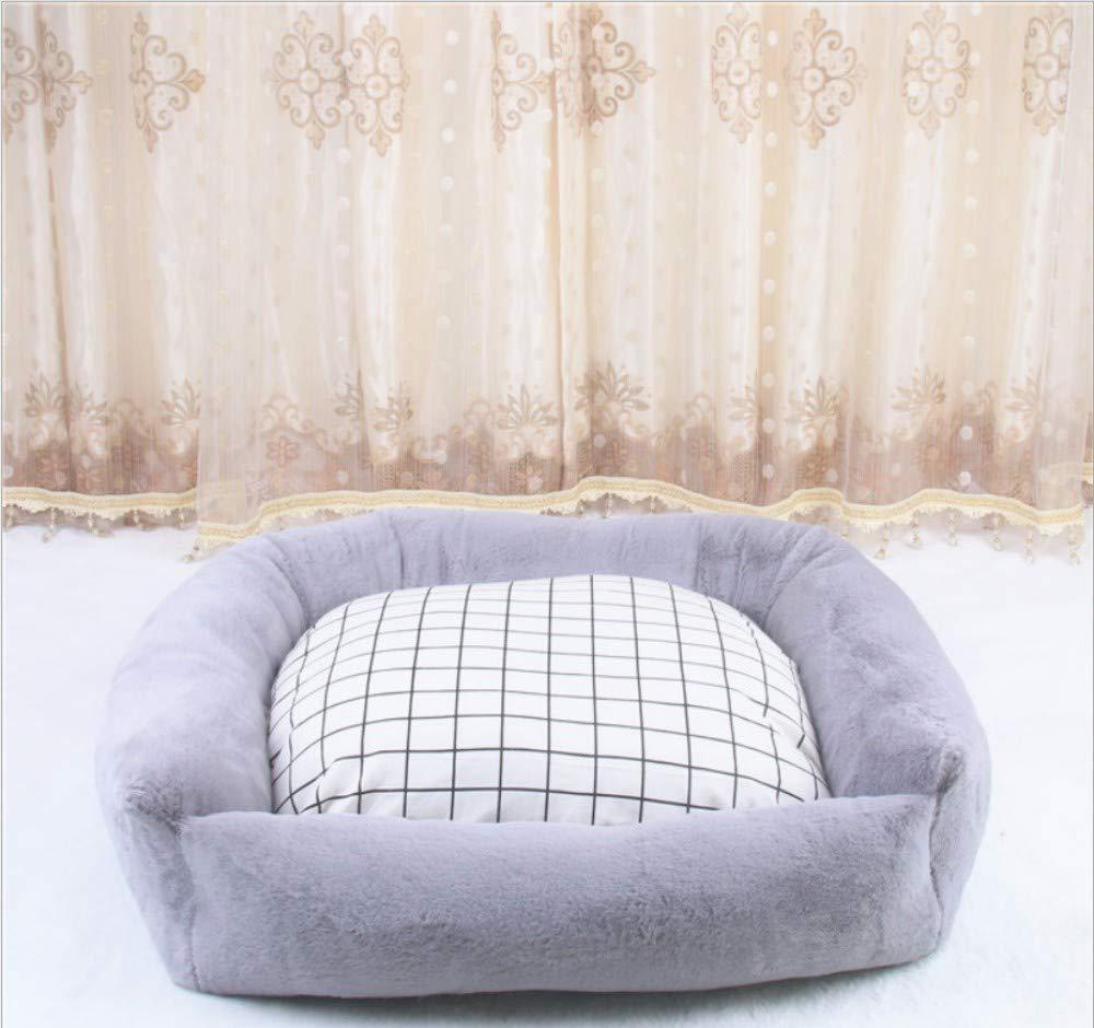 A 80X70X20CM A 80X70X20CM GZDXHN Kennel Winter Warm Plush All Removable And Washable Kennel Small Medium Dog Pet Nest=