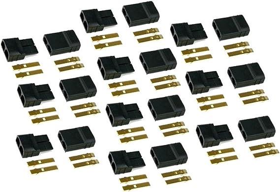 MakerStack Conectores de Enchufe Traxxas de 10 Pares para vehículos Traxxas RTR