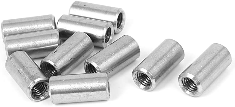 304 Stainless Steel Round Threaded Studding Long Nuts Rod Bar Sleeve Tube M8