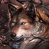 resin toy kit - DIY Crystals Painting Kit 5D Resin Full of Diamond Painting By Number Kits Wolf (40x40)CM/(15x15) Inches