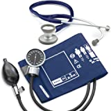 BodyHealt Pro's Combo Adult Pocket Aneroid/Clinician Scope Kit with Prosphyg 778 Blood Pressure Sphygmomanometer and Adscope 603 Stethoscope with Carrying Case (Navy)