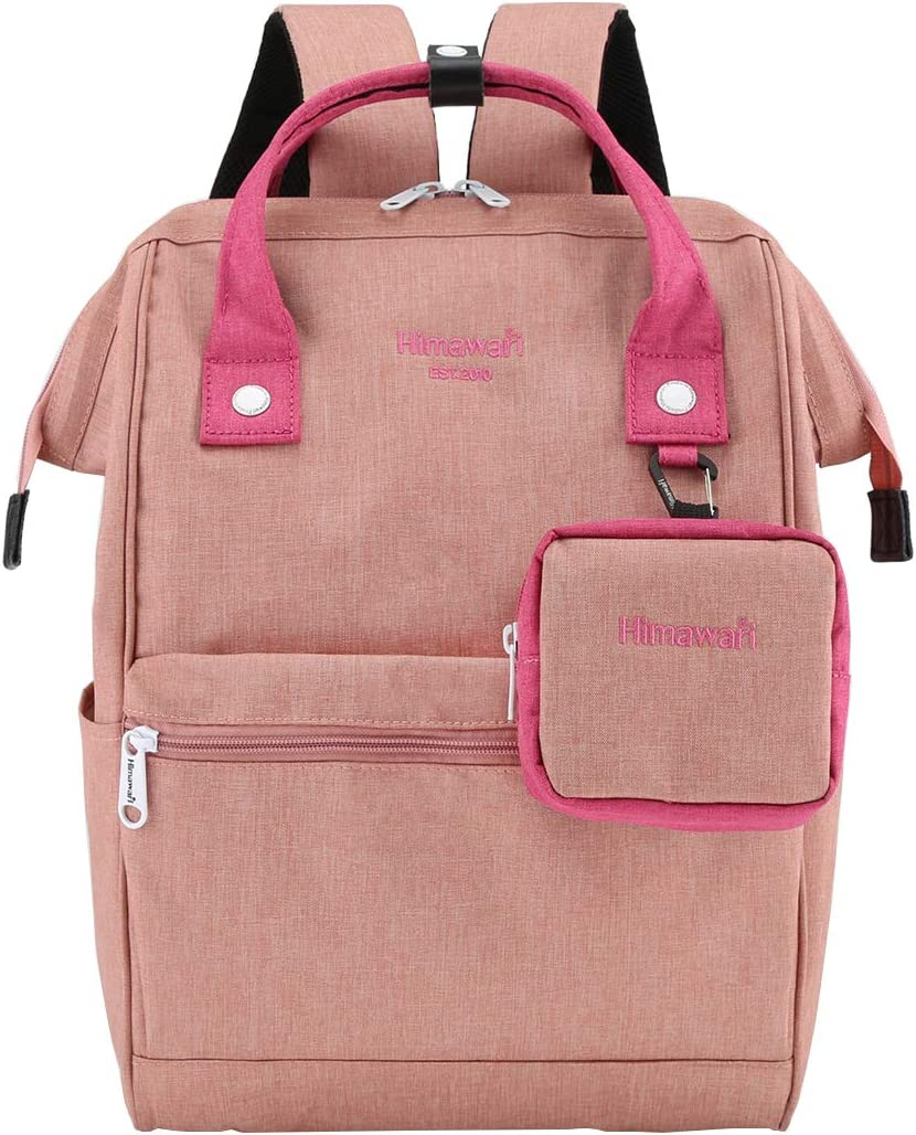 Himawari Travel Laptop Backpack for Men Women, Huge Capacity 15.6'' Computer Notebook Bag for School College Students(Light Pink)