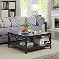 Convenience Concepts Omega Square Coffee Table, 36-Inch, Espresso