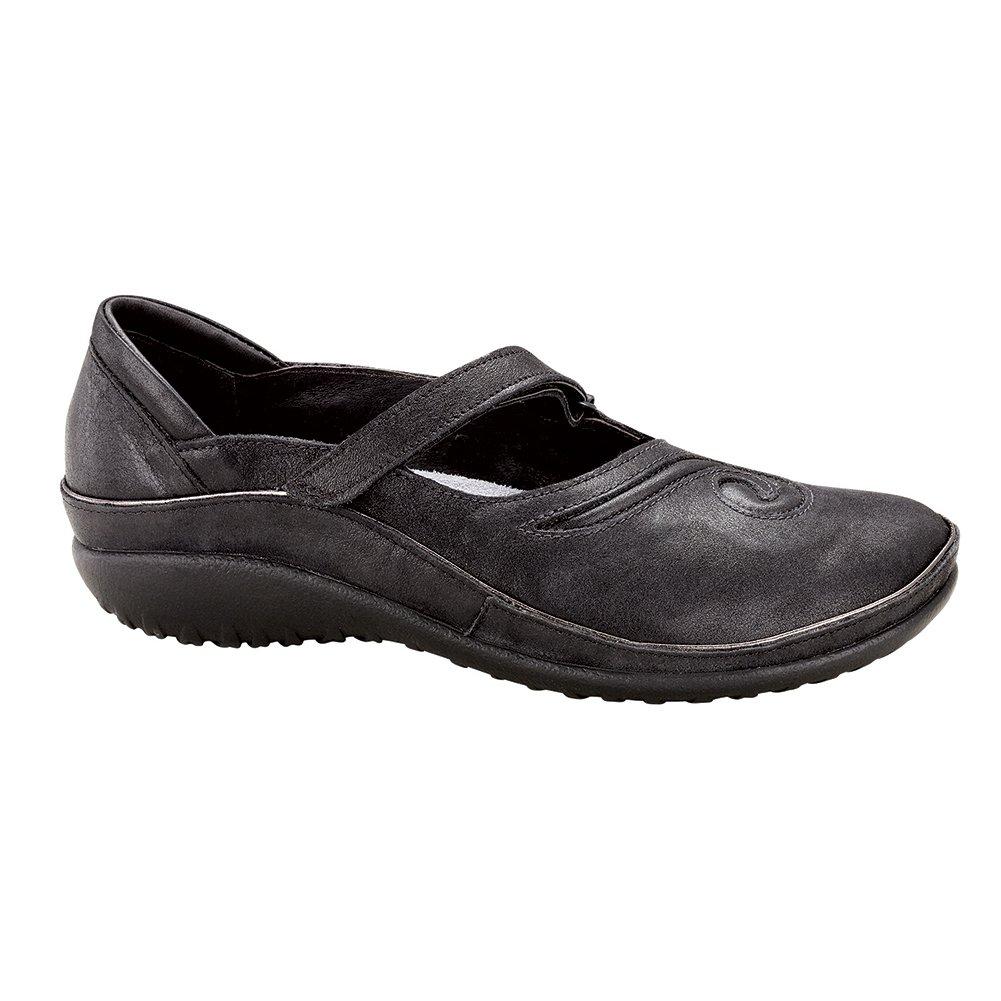 NAOT Matai Koru Women Flats Shoes B01MG2YZNA 42 M EU|Shiny Black Leather