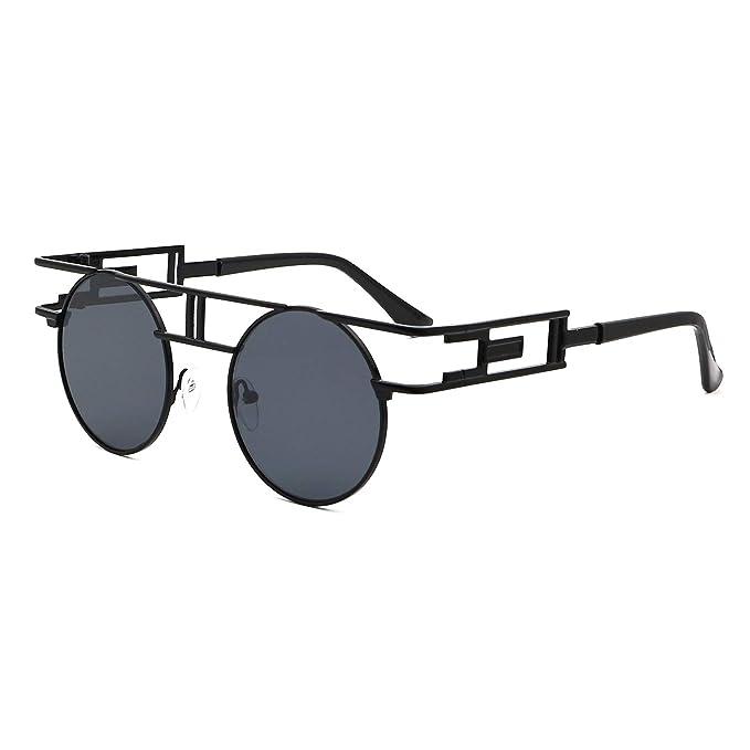 Amazon.com: Leckirut - Gafas de sol redondas para hombre y ...