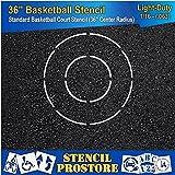 Athletic Marking Stencils - 36 inch Basketball