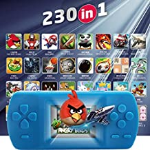 Hometom 2.5'' 230 Games Portable Classic Video Game Player 8 Bit Handheld Console (Sky Blue)