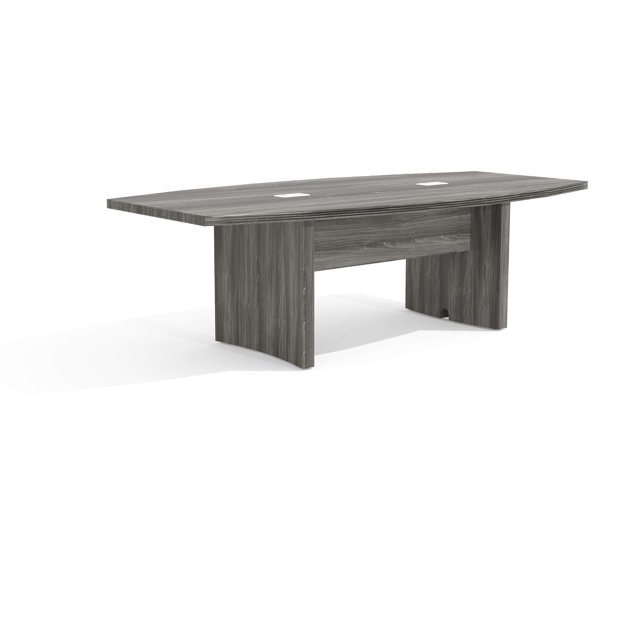 Mayline ACTB8LGS Aberdeen 8' Boat Shape Conference Table, Textured Cherry Graphite Tf