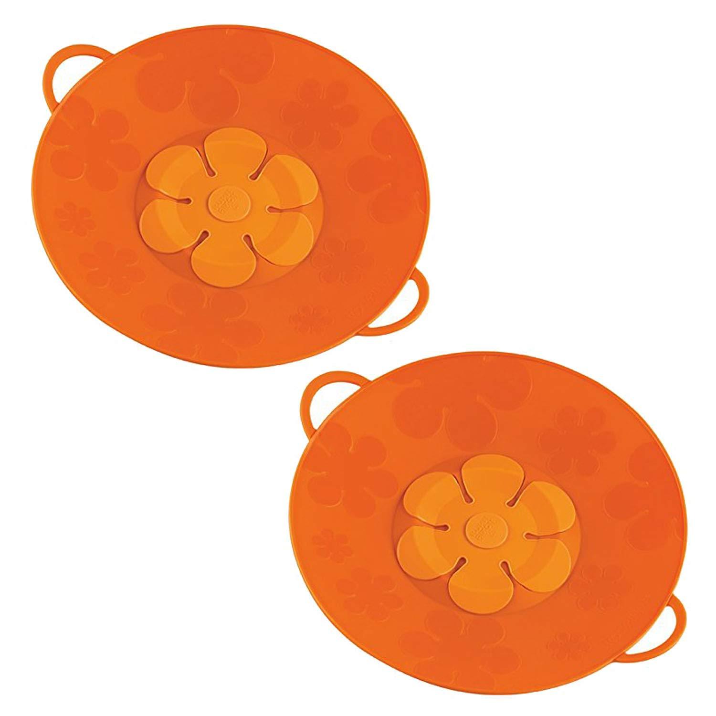 Kuhn Rikon 11-Inch Orange Kochblume Spill Stopper, Set of 2 by Kuhn Rikon