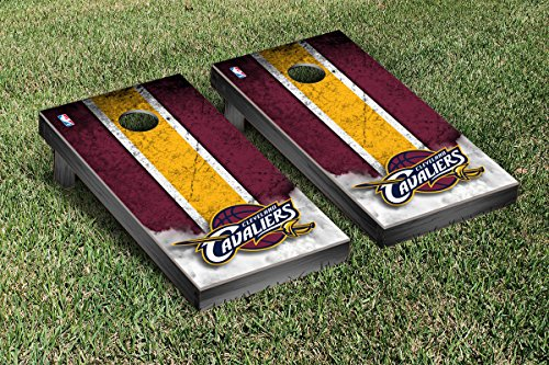 Cleveland Cavaliers NBA Basketball Cornhole Game Set Vintage Version by Victory Tailgate