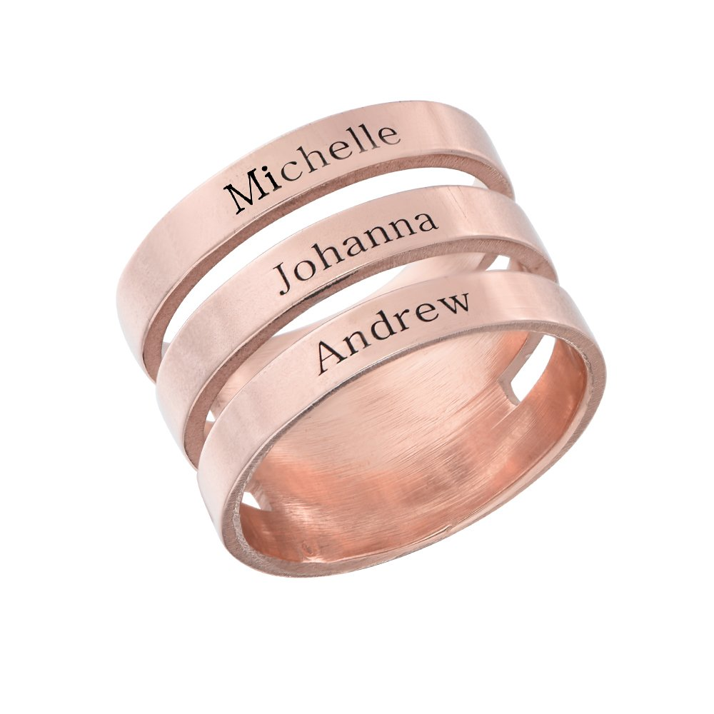 Amazon.com: Mothers Engraved Three Name Ring - Customized Names ...
