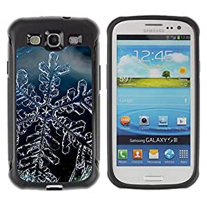 Jordan Colourful Shop@ Snow Crystal Snowflake Winter Ice Rugged hybrid Protection Impact Case Cover For S3 Case ,I9300 Case Cover ,I9308 case ,Leather for S3 ,S3 Leather Cover Case