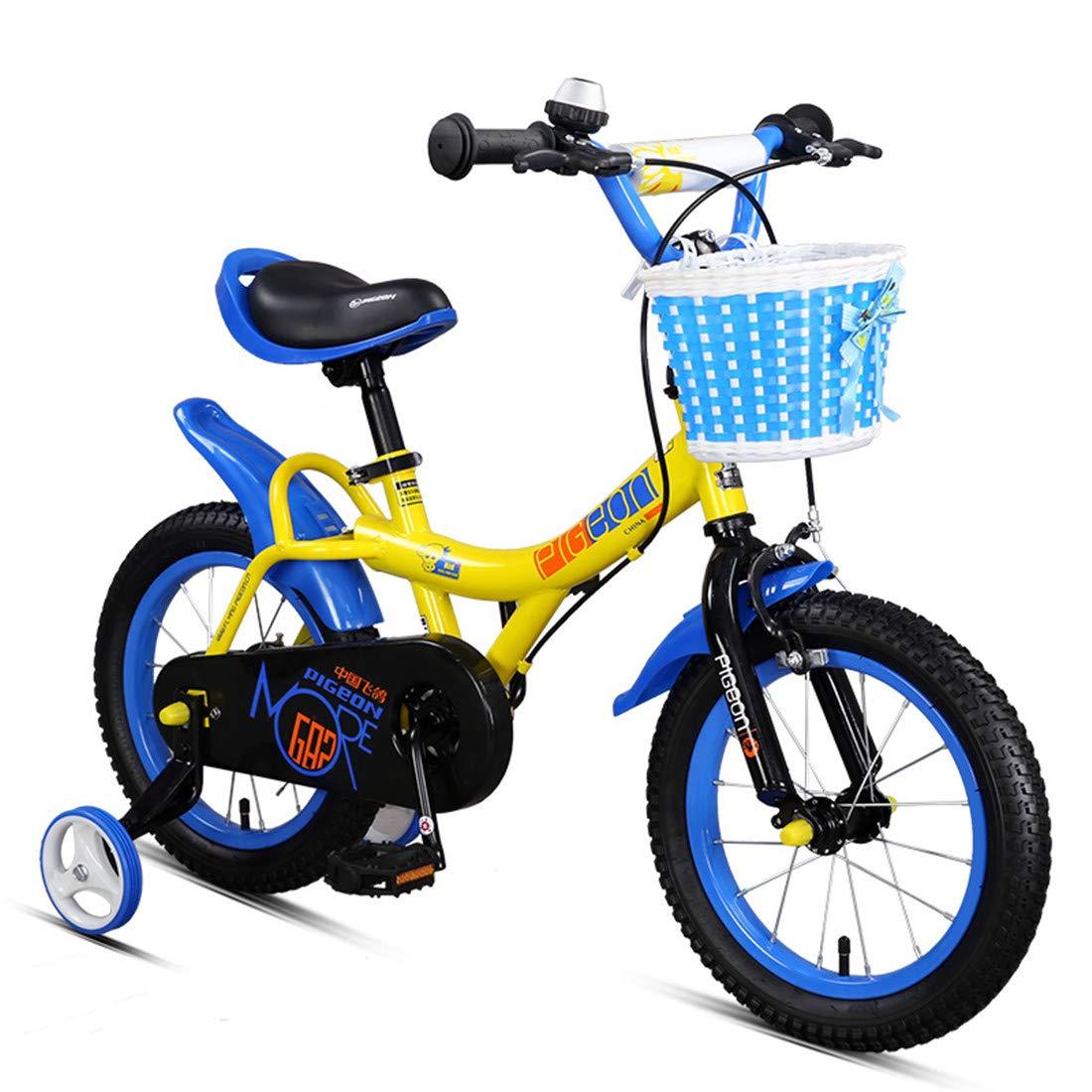 男の子および女の子のための訓練の車輪の自転車の高炭素鋼鉄が付いている子供のバイク18インチ   B07NYYX28Y