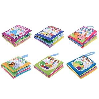 F Fityle 6 Set Baby Kids Intelligence Developmental Cognize Libro con Suono