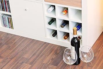 Ikea Expedit Kallax Regal Einsatz Für 9 Flaschen (Fächer 10 X 10 Cm)  Flaschenregal