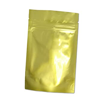 Resealable Gold Foil Bags Zip Lock Heat Seal Bag//Pouches 130 x 200mm Gold