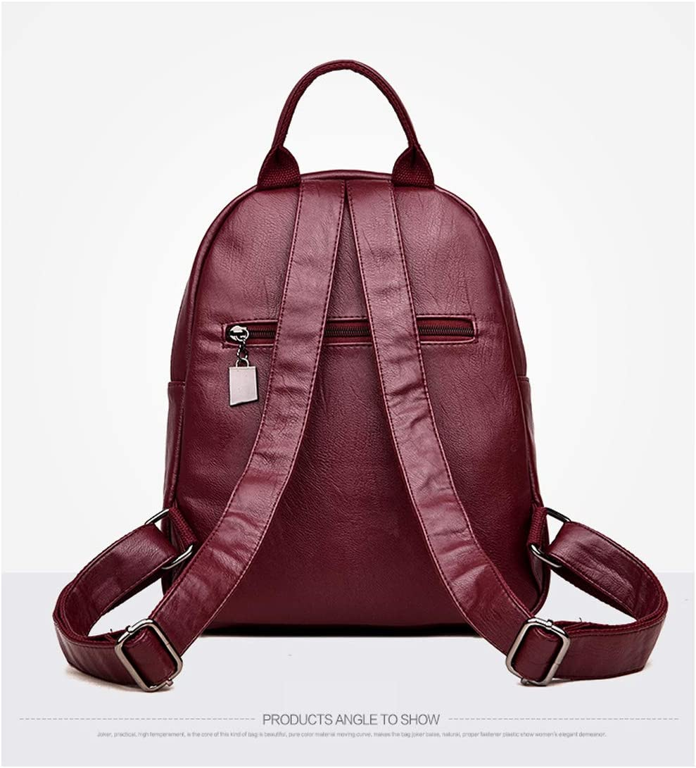 Haoyushangmao Girls Multi-Purpose Backpack for Everyday Travel//Outdoor//Travel//School//Work//Fashion//Leisure PU Leather Stylish and Practical. Black//Red//Brown//Blue