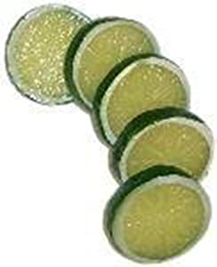 Yonger 5 Pcs Artificial Fake Lemon Slice Food Fruit Great Home Decoration (Green)