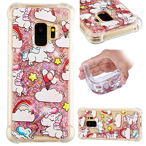 Galaxy S9 Case, UZER Shockproof Series Cute Bling