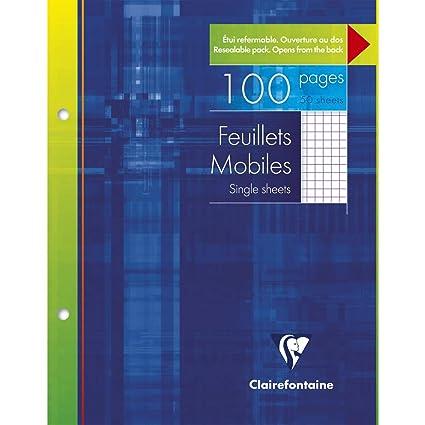 Clairefontaine - Paquete de 50 hojas cuadriculadas de 17 x ...