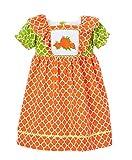 Girl's Smocked Pumpkin Apron Dress (2T)