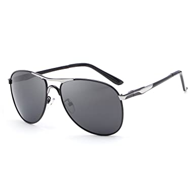 hdcrafter vintage polarized aviator metal frame sunglasses black for men