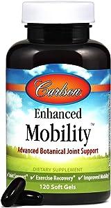 Carlson - Enhanced Mobility, Botanical Joint Support, Boswellia, Tart Cherry, Curcumin, Ginger, 120 Softgels