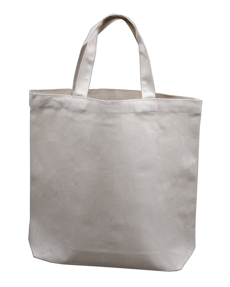 Medium Tote Bag 14''x13''x3'', Natural Color, 100% Cotton Canvas - Pack of 12