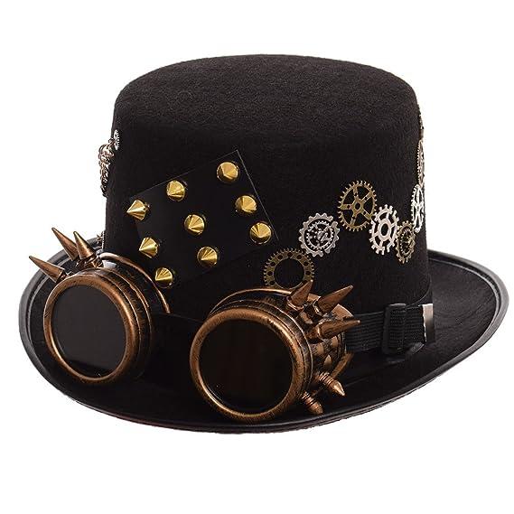 GRACEART Steampunk hacia Parte Superior Sombreros con Google (Varios Estilos ) ebf2fec4d36