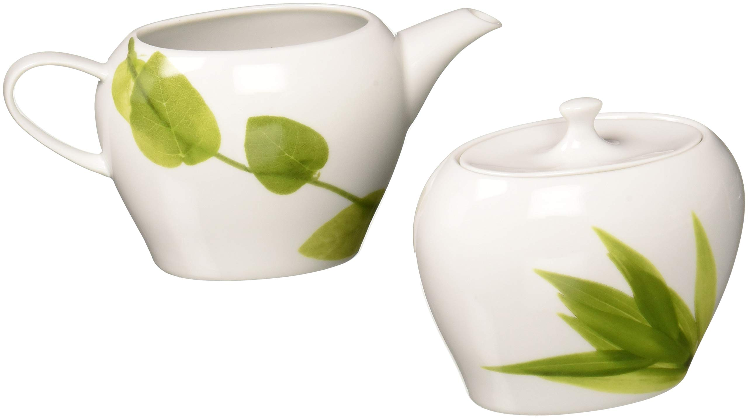 Mikasa Daylight Sugar Bowl and Creamer Set
