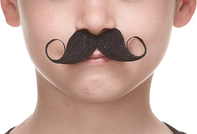 Novelty Costume Accessory for Kids Self Adhesive Small Walrus False Facial Hair Mustaches Fake Mustache