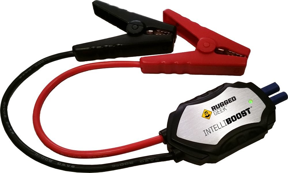 INTELLIBOOST Jump Starter Cables for Rugged Geek RG1000 Portable Jump Starter