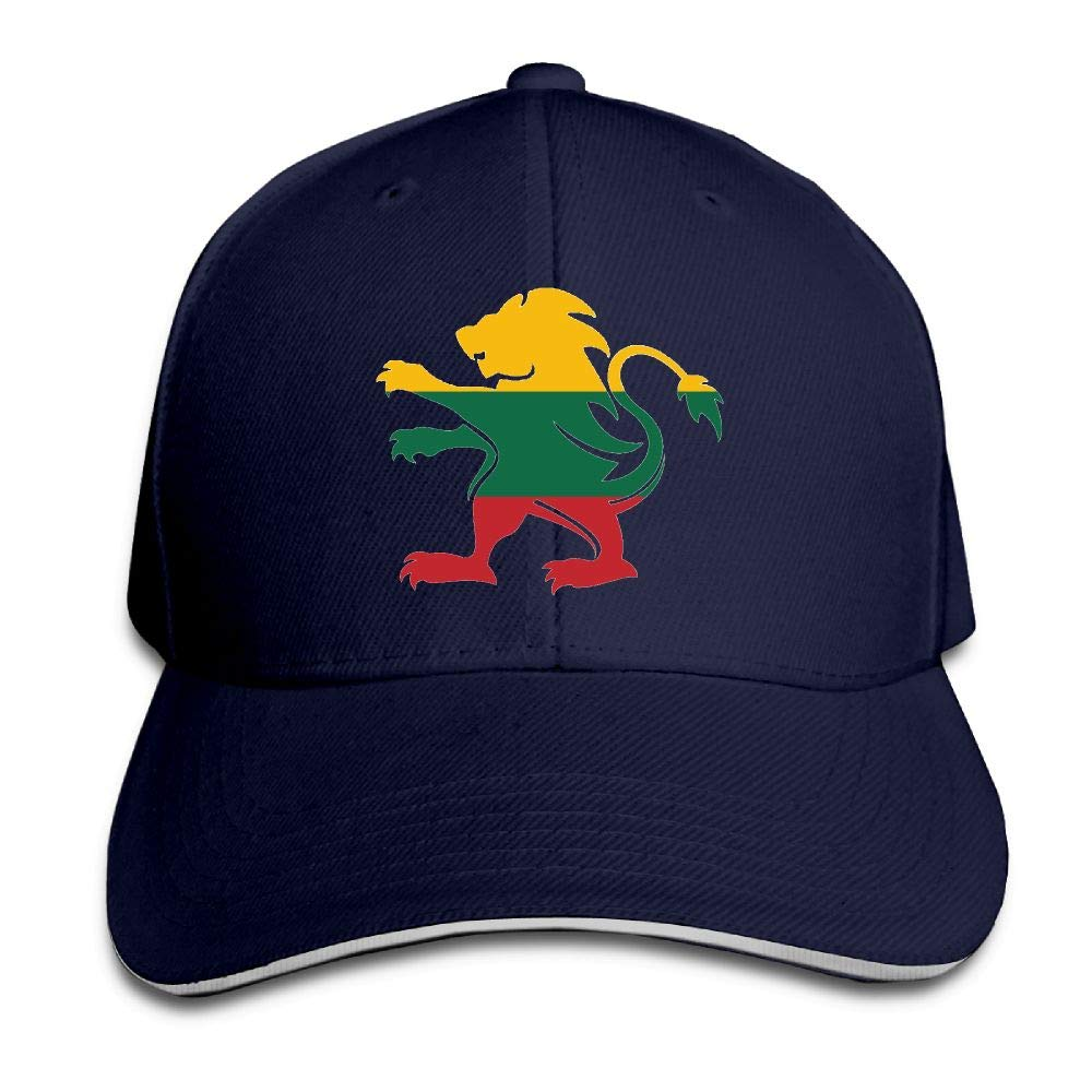 Madoling Lithuanian Flag in Lion Shape Sandwich Hat Baseball Cap Dad Hat